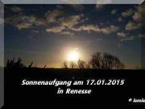 Sonnenaufgang 17 01 2015 Renesse